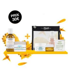 买就送封面5件套+免邮Kiehl's 夏日套盒热卖 金盏花洁面+白泥面膜都是明星产品