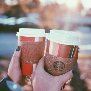 1 Month Free Starbucks CoffeePurchasing Starbucks' Brewed Refill Tumbler Get