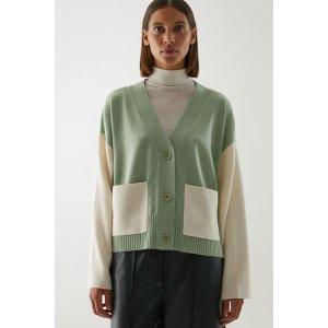 COS绿色针织衫