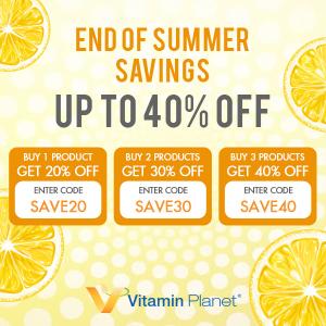 3件以上6折 2件7折 1件8折Vitamin Planet 夏季收官大促 收平价LaMer、丰胸霜、减脂套餐