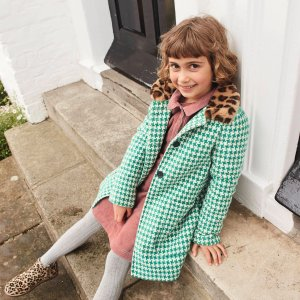 BodenWonderful Wool Coat - Hike Green Dogtooth Check | Boden US