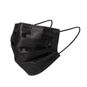 需使用折扣码:DEALMOON3层一次性口罩 黑色 50只