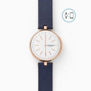 SkagenHybrid Smartwatch - Signatur T-Bar Blue Leather
