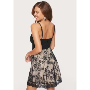 BebePonte Lace Skirt Flare Dress