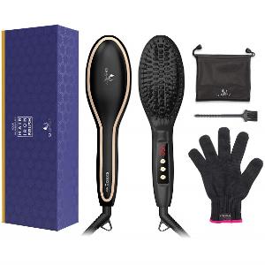 USpicy Hair Straightening Brush Anti Frizz Sale