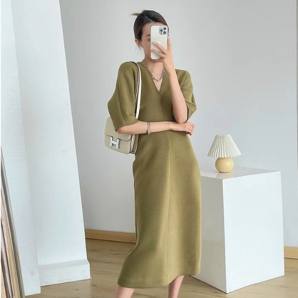 牛油果连衣裙