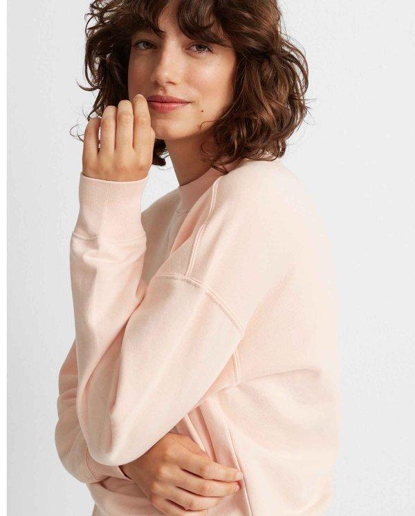 虾粉色卫衣