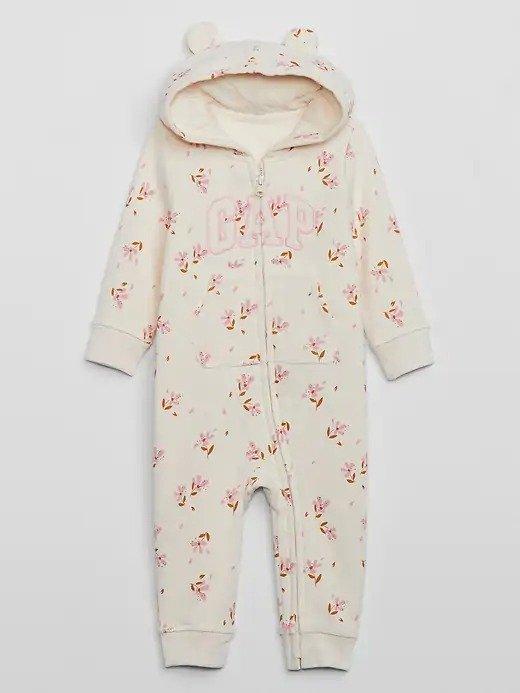 婴儿logo连体外套