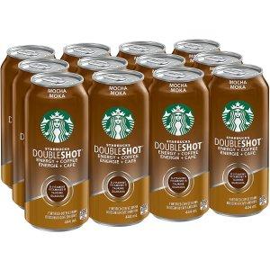 Starbucks 摩卡双倍意式浓缩咖啡 12x444mL