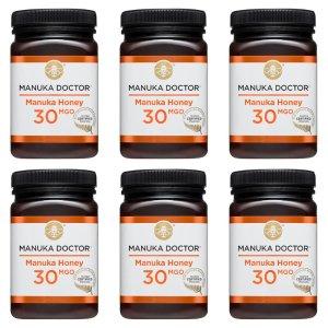 买6罐有机会赢6罐,第2波抽奖开始啦Manuka Doctor 30/40 MGO蜂蜜500g 6罐豪华大礼包特惠