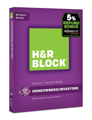 Today Only:$17H&R Block Tax Software Deluxe + State 2017 with 5% Refund Bonus Offer