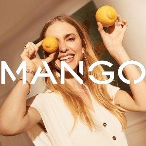 低至3折+全场额外8折折扣升级:Mango 官网夏日美衣清仓特卖,收蝴蝶结穆勒鞋