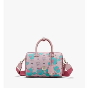 MCMEssential Boston Bag in Floral Leopard