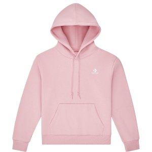 Converse粉色帽衫
