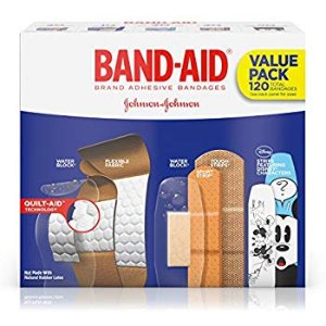 Amazon.com: Band-Aid Brand Flexible Fabric Adhesive Bandages for Wound Care and First Aid, Assorted Sizes, 100 ct: Health & Personal Care