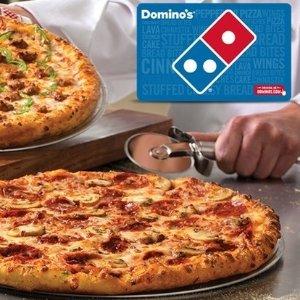 7.5折入手 现价$11.25Domino's Pizza 价值$15电子礼卡