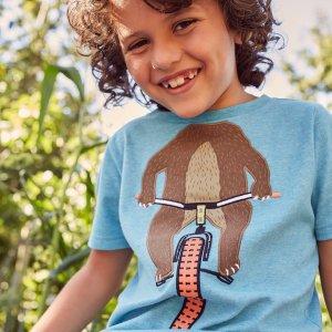 $8.95起+包邮 体验品质机会即将截止:Joules童装官网 英伦高颜值T恤热卖,新品7.5折$13+