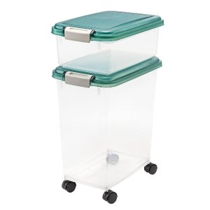 IRIS 宠物粮食储存盒 带滚轮