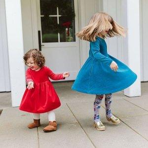 $19起Hanna Andersson 连衣裙促销 有适合圣诞的节日款