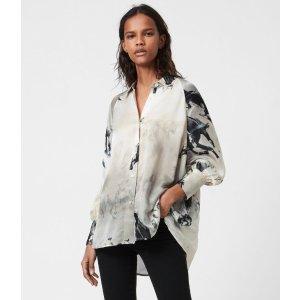 AllSaintsOana Epoto Silk Blend Shirt