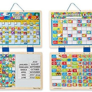 Melissa & Doug Kids' Magnetic Calendar and Responsibility Chart Set With 120+ Magnets @ Amazon.com