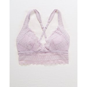 df0535748097a2 aerieBuy One Get One FreeCrochet Lace Longline Padded BraletteCrochet Lace  Longline Padded Bralette