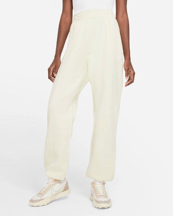 网红奶白色运动裤