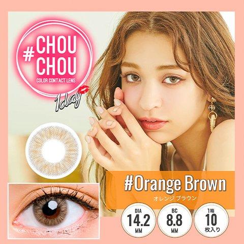 【2%返点】#CHOUCHOU Orange Brown月抛美瞳1枚