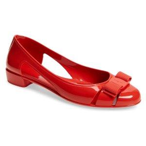 Salvatore FerragamoJelly芭蕾平底鞋