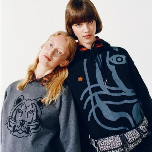 低至4折 €49收虎头T恤Kenzo 大促超多上新 虎头卫衣、logo T恤全是经典款