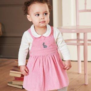 低至7折 $25收封面两件套最后一天:JoJo Maman Bébé 女婴幼童连衣裙特卖