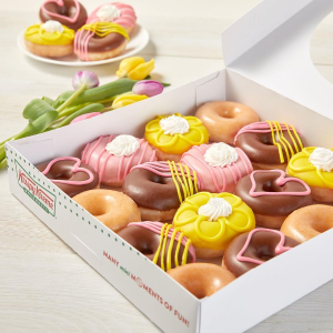 sixteen for $14.49New Release: Krispy Kreme Mother's Day Edition Mini Donuts