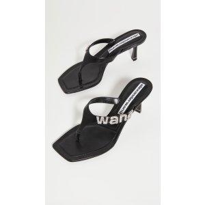 Alexander Wang新款logo凉鞋