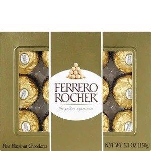 Ferrero Rocher第二件5折榛仁巧克力球 12颗装