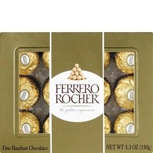 Ferrero Rocher买一赠一综合口味巧克力礼盒 12枚