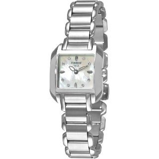 Lowest priceTISSOT T-Trend T-Wave Mother of Pearl Diamond Ladies Watch T02.1.285.74