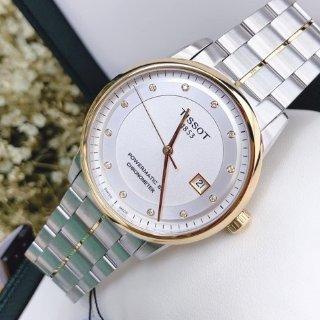 额外减$60 $439+免税包邮TISSOT Luxury Automatic 系列镶钻机械时装男表