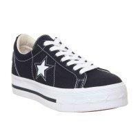 Converse 黑色白星板鞋