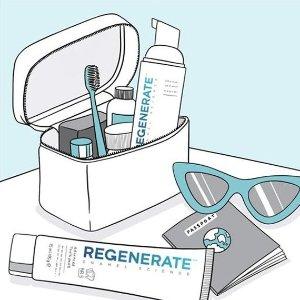买2送1+额外9折Regenerate 专业口腔护理 亮白牙齿刷出来