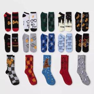 Harry PotterWomen's Harry Potter Castle 15 Days of Socks Advent Calendar -Assorted Colors One Size