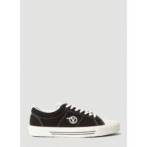 Vans黑色logo滑板鞋