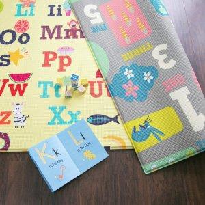 119.99 (原价$149.95) 美亚4.8超高分好评Baby Care 儿童一片式字母数字健身毯 大号