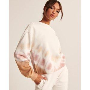 Abercrombie & FitchWomen's Tie-Dye Cutoff Crew Sweatshirt | Women's Up to 30% Off Select Styles | Abercrombie.com