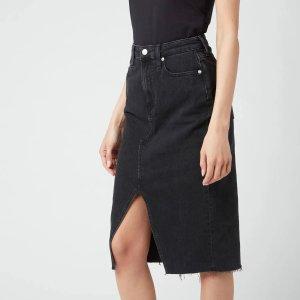 Calvin Klein Jeans高腰牛仔半裙 新款