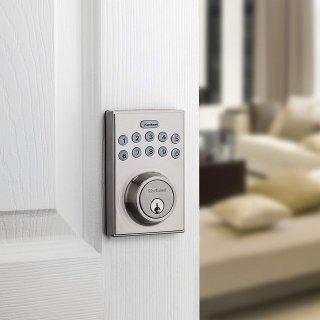 $50.7(原价$69.99)包邮Kwikset 电子密码门锁 从此告别忘记带钥匙