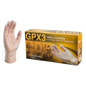 Ammex GPX3 Industrial Clear Vinyl Gloves