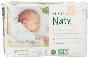 $28.08(原价$60.99)逆天价:五星好评,ECO By Naty 婴儿尿不湿,不含化学物质、不含荧光剂,104个装