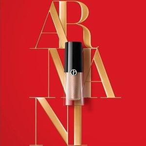 售价$48 17色可选Armani 单色液体眼影液 百搭富家大小姐妆容
