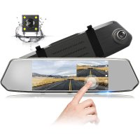 TOGUARD 后视镜式双摄像头 触屏行车记录仪 带倒车影像