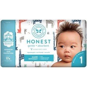 Honest Company Diapers, Multi Colored Giraffes Size 1 | CVS.com